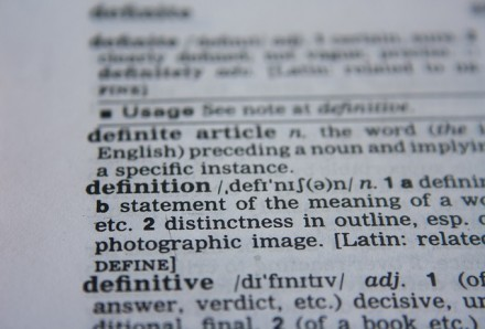 dictionary entry, definition