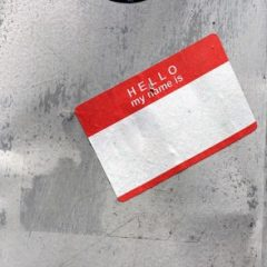 """Hello my name is"" tag"